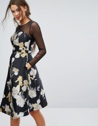 Coast Mia Mesh Sleeve Dress - Multi