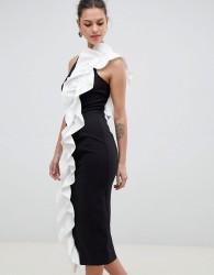 Coast Monochrome Ruffle Shift Dress - Black