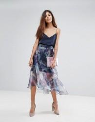 Coast Organza Printed Skirt - Multi