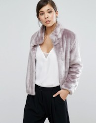 Coast Oslo Faux Fur Jacket - Purple