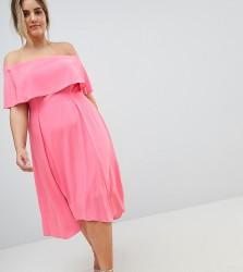 Coast Plus Bonnie Bardot Midi Dress - Pink