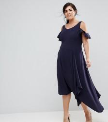 Coast Plus Cold Shoulder Soft Dress - Navy