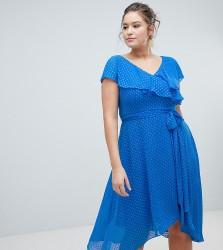 Coast Plus Dobby Wrap Dress - Blue