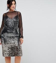 Coast Plus Gisella Ombre Sequin Mesh Dress - Multi