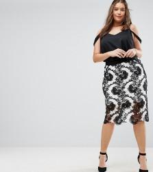Coast Plus Keira Lace Pencil Skirt - Multi