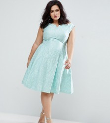 Coast Plus Kimberley Bardot Jacquard Dress - Green
