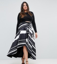 Coast Plus Striped Maxi Skirt - Multi