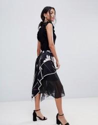 Coast Printed Soft Midi Skirt - Multi