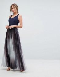 Coast Roma Metalic Maxi Dress - Navy