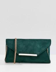 Coast suede envelope clutch bag - Green