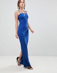 Coast Zoe Strappy Maxi Prom Dress - Blue