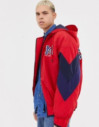 COLLUSION padded bomber jacket with back print - Blue