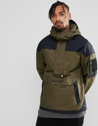 Columbia Challenger Pullover Jacket Hooded Insulated in Green/Black - Green