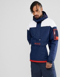 Columbia Challenger Pullover Jacket Hooded Insulated in Navy/White - Navy