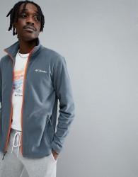 Columbia Fast Trek Lightweight Full Zip Fleece in Grey with Orange Trim - Grey