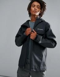 Columbia Huntsville Peak Jacket Insulated Waterproof Hooded In Black - Black