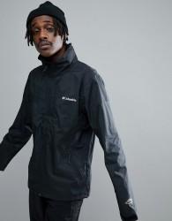 Columbia Inner Limits Waterproof Jacket Concealable Hood in Black - Black