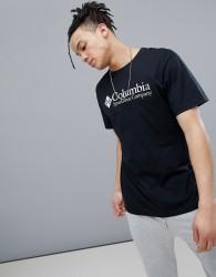 Columbia Logo T-Shirt in Black - Black