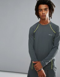 Columbia Long Sleeve Top Performance Midweight Stretch in Graphite Grey - Grey