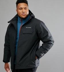 Columbia PLUS Huntsville Peak Jacket Insulated Waterproof Hooded In Black - Black
