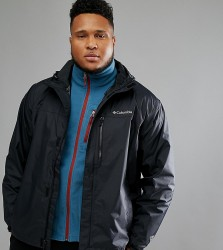Columbia PLUS Pouring Adventure II Jacket Waterproof Hooded in Black - Black