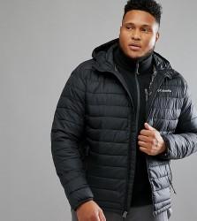 Columbia PLUS Powder Lite Puffer Jacket Hooded in Black - Black