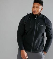Columbia Plus Size Fast Trek II Fleece Full Zip in Black - Black