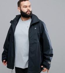 Columbia Plus Size Inner Limits Waterproof Jacket Concealable Hood in Black - Black