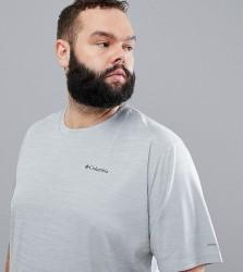 Columbia Plus Size Zero Rules Technical Logo T-Shirt in Grey - Grey
