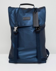 Consigned Double Clip Backpack In Navy - Navy