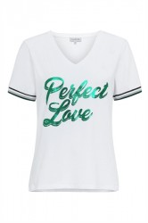 Continue - T-shirt - Perfect - White/Green
