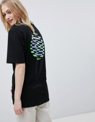 Converse Cons Skate Boarding T-Shirt In Black With Back Print - Black