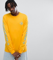 Converse Long Sleeve Top With Arm Print In Yellow Exclusive To ASOS - Yellow