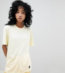 Converse Premium Essentials Logo T-Shirt In Lemon - Yellow