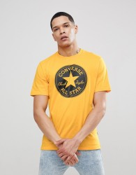 Converse T-Shirt With Chuck Print In Yellow 10006049-A03 - Yellow
