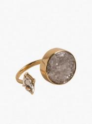 Cornelia Webb Crystalised Open Ring L Ringe