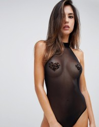 Cosabella Showoff Halterneck Body And Nipple Covers Set - Black