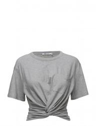 Cotton Jersey Front Twistshort Sleeve Tee