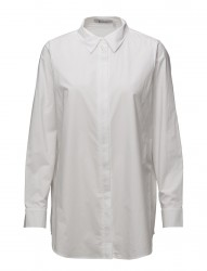 Cotton Poplin L/S Collarshirt W/ Zip Details