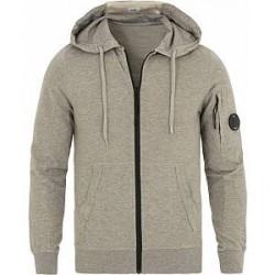 C.P. Company Full-Zip Hoodie Grey Melange