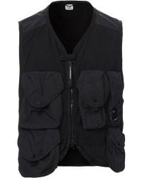 C.P. Company Garment Dye Utility Vest Black men 48 Sort
