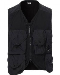 C.P. Company Garment Dye Utility Vest Black men 50 Sort