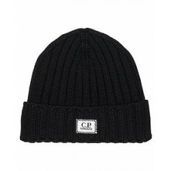 C.P. Company Knitted Beanie Black