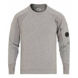 C.P. Company Lense Crew Neck Sweatshirt Light Grey