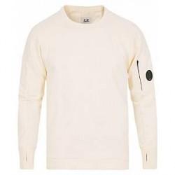 C.P. Company Lense Crew Neck Sweatshirt Off White