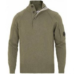 C.P. Company Lense Knitted Half Zip Sweater Military Green