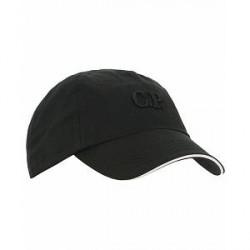 C.P. Company Logo Cap Black