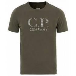 C.P. Company Logo Tee Army Green