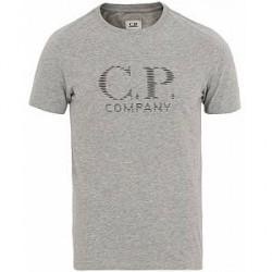 C.P. Company Logo Tee Grey Melange