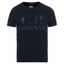 C.P. Company Printed Indigo Jersey Dark Navy